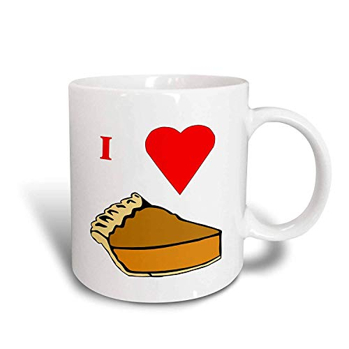 FiuFgyt I Love Pumpkin Pie Novelty Coffee Mugs for Men Ceramic Mug Funny for Women 11oz