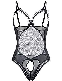 7777cc4f4 Lingerie for Women Plus Size Sexy Teddy One Piece Sleepwear Lace Bodysuit  S-6XL