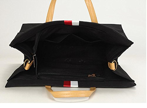 Bolsos El Meaeo Muelle Negro Señoras Elegante Black Nuevo Paquete Grande Salón Ofertas 5xww6HtqaC