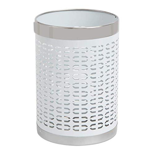 YXN Trash Can Simple Metal Coverless Mesh Storage Bin Floor-Standing Office Paper Basket 9L by YXN