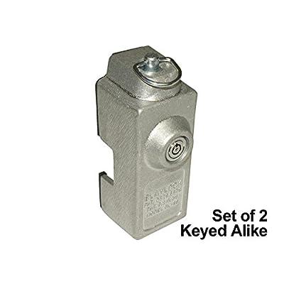 Blaylock DL-80 Cargo Trailer Door Lock - 2-Pack of Keyed Alike Locks: Automotive