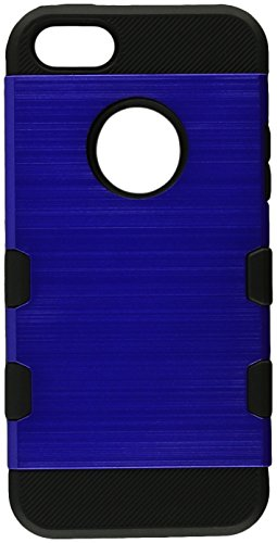 MyBat TUFF Trooper Case for iPhone SE/5/5s - Dark Blue/Black Brushed