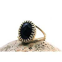 black onyx ring,gold ring,vintage ring,black ring,gemstone ring,gold black jewelry,oval ring,customize rings