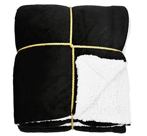 Napa Sherpa Throw Blanket Black 50