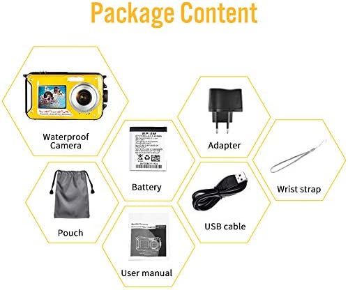 Underwater Camera Camcorder for Snorkeling Full HD 2.7K 48.0 MP Waterproof Point and Shoot Digital Camera Dual Screen Action Camera