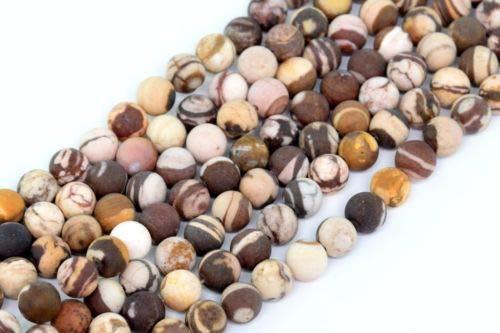 (6mm Natural Matte Australia Zebra Jasper Beads Grade Round Loose Beads 15'' Crafting Key Chain Bracelet Necklace Jewelry Accessories Pendants)