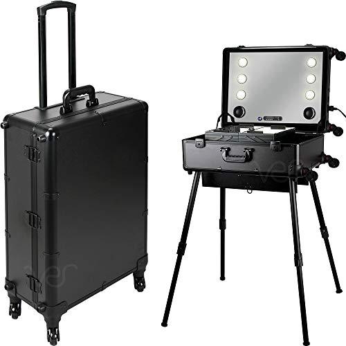 Ver Beauty Makeup Studio Workstation 6 Dimmable Led Lights, Black Matte