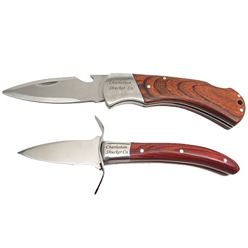 Charleston Shucker Company Stowaway & Palmetto Knife w/ Built-In Bottle Opener Knives Variety Pack by UJ Ramelson Co (Image #3)