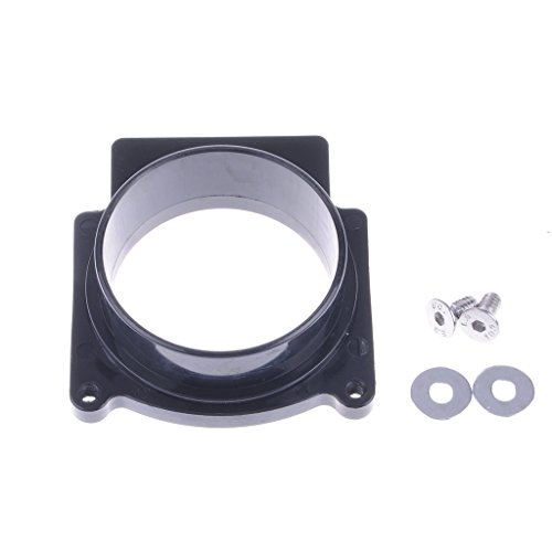 (Wotefusi ATV Parts Black Air Filter Intake Adapter For Yamaha Grizzly 660 All)