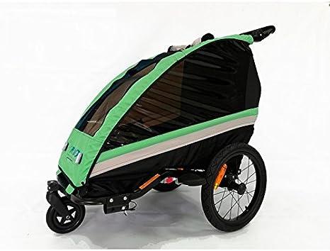 RBO Remolque de Bicicleta para niños One, monoplaza, Plegado ...