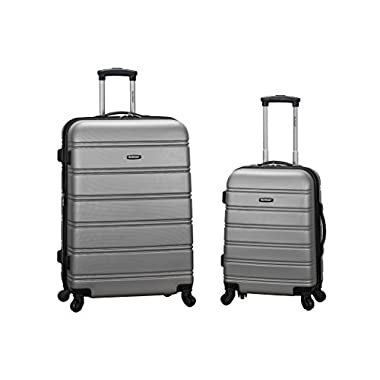 Rockland Luggage 20 Inch 28 Inch 2 Piece Expandable Spinner Set, Silver, One Size