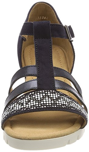 Gabor para Sport con Atlantik Shoes Azul Pulsera Grata Comfort Mujer Sandalia wrHqSCPWH