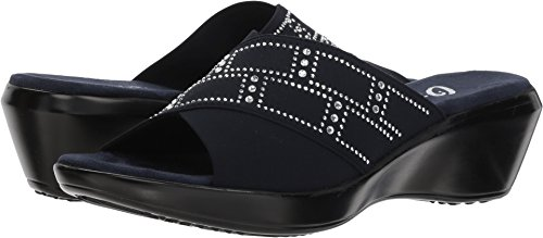 Mistie Navy Mid Wedge Elastic Heel Onex Women's Sandals fwHn7