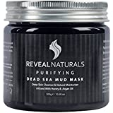 Reveal Naturals Dead Sea Mud Mask - Infused with Honey and Argan Oil - Acne Treatment & Pore Minimizer Mask - 10.6 Ounces