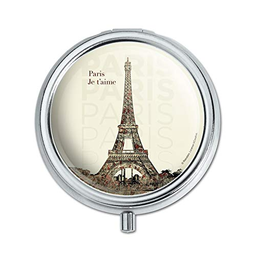 Paris, Je T'Aime I Love You Eiffel Tower City Map Pill Case Trinket Gift Box
