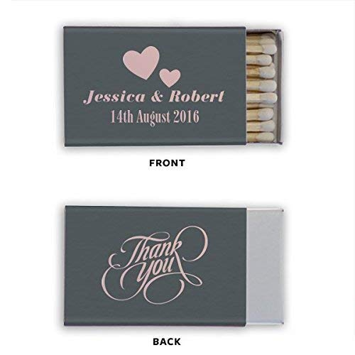 Last Name Personalized Matchbook, Custom Wedding Matches, Personalized Matches, Custom Printed Favor 81