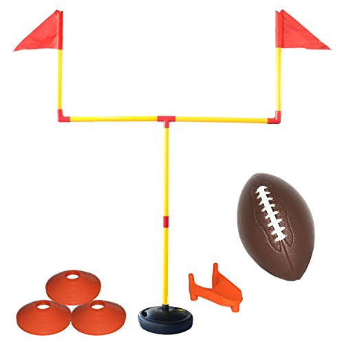 EXERCISE N PLAY Youth Football Goal Post Set, Flag Football, Suitable for Backyard Field