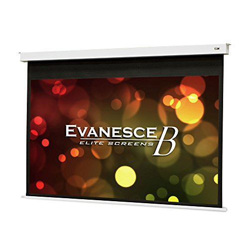 Elite Screens Evanesce B Series, 92-inch Diagonal 16:9, Recessed In-Ceiling Electric Projector Screen with Installation Kit, 8k/4K Ultra HD Ready MaxWhite FG a Matte White with Fiberglass Reinforcement Projection Screen Surface, (Series Motorized Screen)