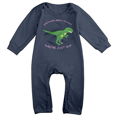 [ZhoYHHeng Dinosaurs Aren't Extinct They're Just Shy Boy's & Girl's Long Sleeve Jumpsuit Outfits Navy 6 M] (Soul Train Outfits)