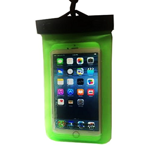 Universal Waterproof Cell Phone Case | Waterproof Bag Holds Phone, Passport, Credit Cards & More | Fits iPhone 7, 6, 6+, 5S, 5C, 5, 4, Samsung S6, S5 & Other Smartphones | Neck Strap Included