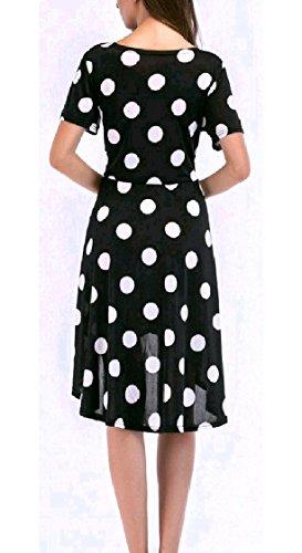 Elegante Plus Della Bicchierino Sera donne Tunica Di Vestito Rondine Midi Girocollo Coolred Pattern10 Coda manicotto size 5qv8nT