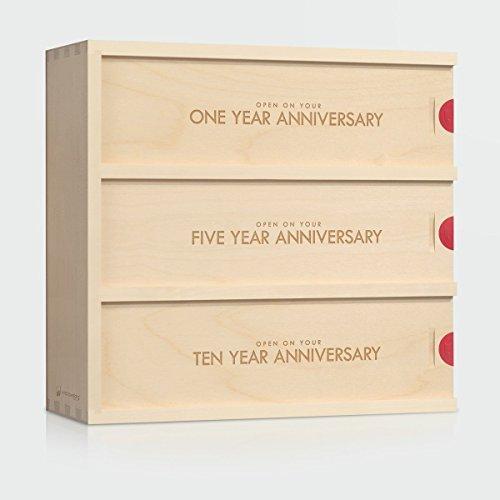Anniversary Wine Box - Classic Trio // Wedding Gift for the Couple // Wedding Wine Box // WineforaWedding® (Trio Wine)
