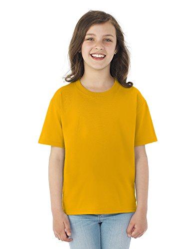 - Fruit of the Loom Boys 5 oz.Heavy Cotton HD T-Shirt (3931B) -Gold -S