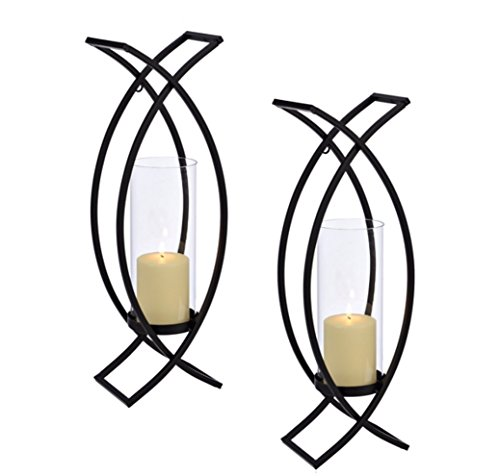 Set of Two Metal Wall Sconces Home Decor by HMW® (Image #1)
