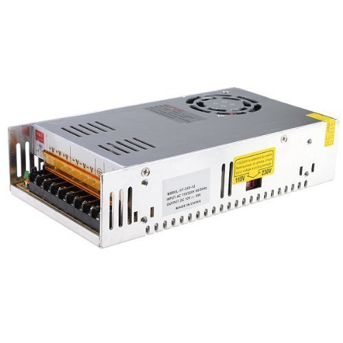 eTopxizu 12v 30a Dc Universal Regulated Switching Power Supply 360w for CCTV, Radio, Computer Project (Non Regulated Adapter)