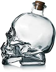 Skull Decanter Lead-free Glass Skull Prop Whiskey Bottle With Cork Stopper