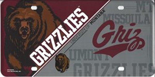 Montana Grizzlies Car (NCAA Montana Grizzlies Metal Auto Tag)