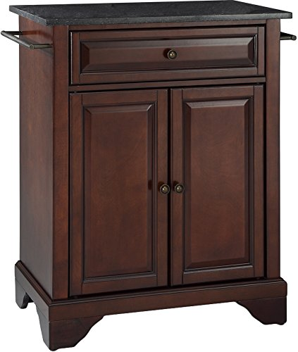 Crosley Furniture LaFayette Cuisine Kitchen Island with Solid Black Granite Top - Vintage Mahogany