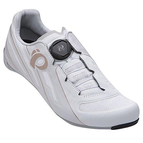 Pearl Izumi Race Road V5 Zapatillas Ciclismo, Mujer, Blanco/Gris, 41