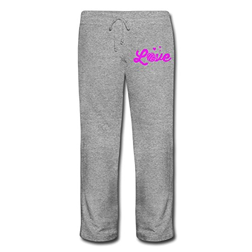 Love Volleyball2-2 Ladies Lounge Elastic Waist Fleece Sweatp