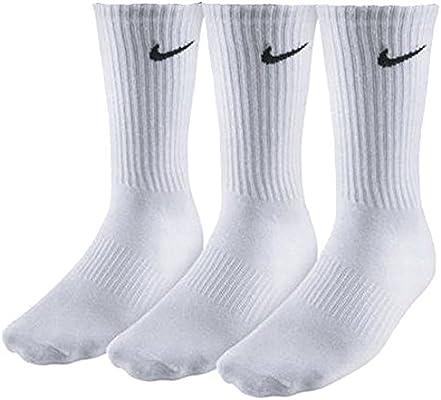 Hombres NIKE paquete de 3 pares blanca algodón calcetines ...