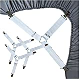 RayTour Bed Sheet Holder Straps Sheet Keepers Straps Bedsheet Holders Suspenders Mattress Cover Straps Bed Sheet Corners Fasteners Clips Keep Mattress Sheet Stays