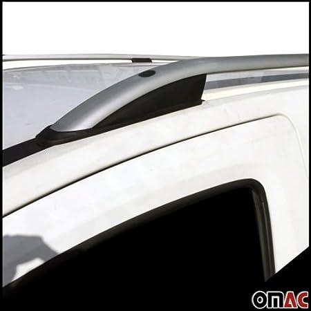 Für Opel Combo D für FIAT Doblo II Dachreling Dachträger mit TÜV ABE Grau Alu