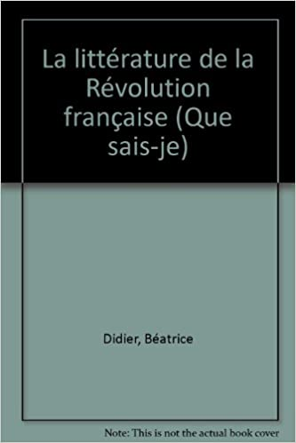 Lire en ligne LITTERATURE REVOLUTION FRANCAISE epub pdf