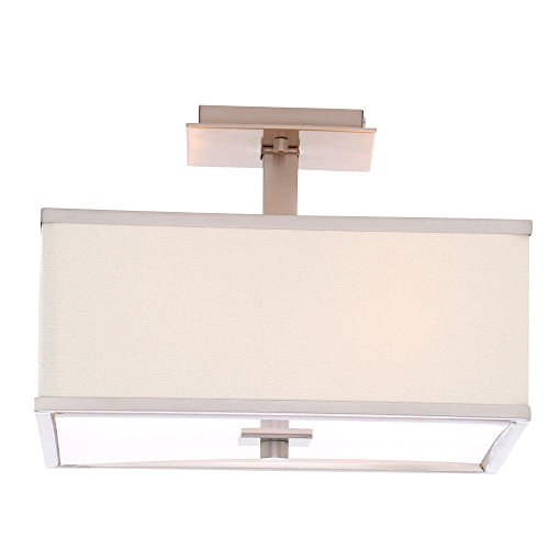 Hampton Bay Menlo Park 4-light Brushed Nickel Semi-flush - Square Park Bay