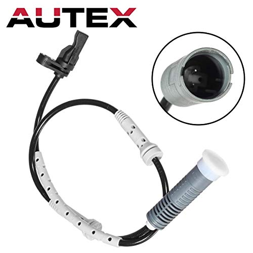 AUTEX 1Pc Front Left or Front Right ABS Wheel Speed Sensor ALS463 34526760424 34 62 6 760 424 GEGT7610-692 Compatible with BMW 128I,135I 2008-2013/BMW 323I,325I,330I 2006/BMW 328I 2007-2013