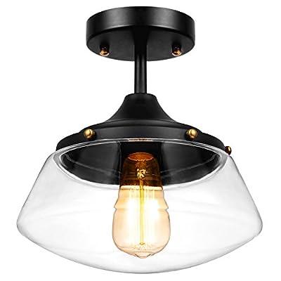 Oak Leaf Pendant Lighting, Vintage Industrial Glass Pendant Light Shade Lampshade Chandelier