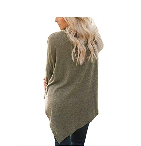 Maglione Solido E Dimensioni Donna Irregualr Autunno Manica Nbe Colore Plus In Collo Coffee Color Inverno Lunga Alto OwIqxxv5n