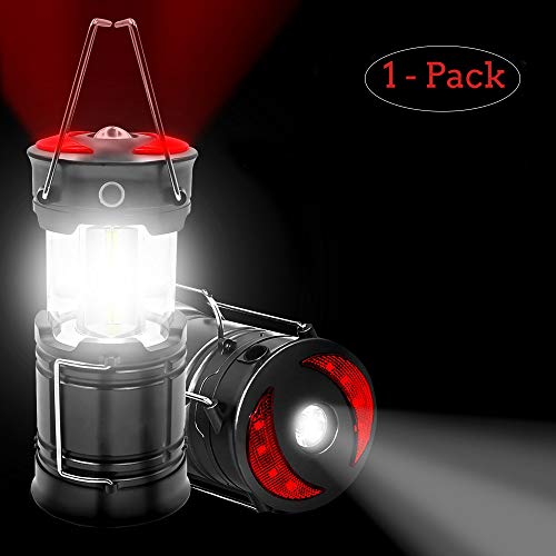 MroTech Ultra Bright LED Camping Lantern Collapsible Waterproof Outdoor Tent Light Emergency Lamp Flashlight Lightweight Suitable for Hiking,Hurricanes,Fishing,Outages - Batteries not Included -1 Pack