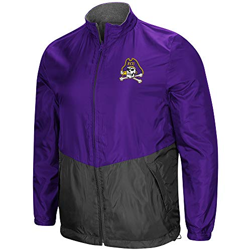 (Colosseum East Carolina Pirates Halfback Reversible Polar Fleece/Rain Jacket (L))