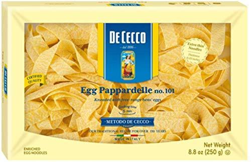 De Cecco Pasta, Egg Pappardelle, 8.8 Ounce (Pasta Dried)
