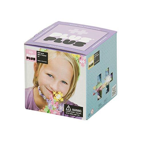 Pastel Toy - PLUS PLUS - Construction Building Toy, Open Play Set - 600 Piece - Pastel Color Mix