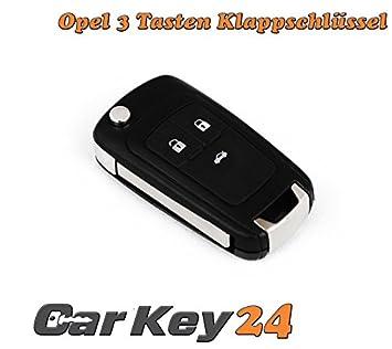 Opel 3 Botones para llaves Carcasa para Opel Astra J ...