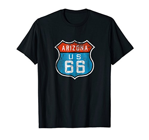 Route 66 Arizona Vintage Retro Logo Souvenir Gift T-Shirt
