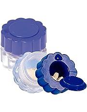 Mobiclinic Triturador de Pastillas | con contenedor | Azul y Transparente | Machacador de Pastillas |
