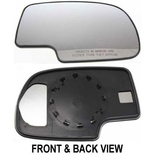 Fit System 80058 Passenger Side Non-heated Replacement Mirror Glass with Backing - Side Of Glasses View